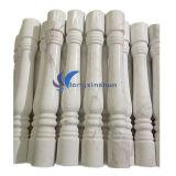 Pilar de granito branco com tampa para decoração