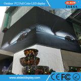 El panel de visualización fijo de LED de la INMERSIÓN al aire libre P12 del alto brillo
