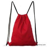 Оптовый мешок Drawstring холстины хлопка типа 100 Backpack высокого качества