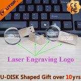 Het ronde Geheugen van de Flits van de Gift USB van het Kristal (yt-3270-05)