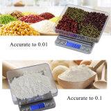 Escala del alimento de la cocina de Digitaces y escala de la joyería de Digitaces