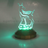Presente de Natal popular ou fornecimento de festa Cor Changing LED Acrylic Figure Light
