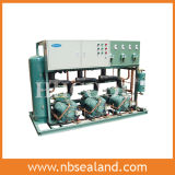 Unidad de condensación paralela refrigerada por agua