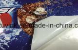 Selbstklebendes weißes Glaswand-Fahrzeug Belüftung-Plakat-die materielle Vinylaufkleber-Rolle anpassen, die Förderung-Drucken bekanntmacht
