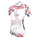 Riga respirabile del pullover del breve manicotto modellate cervi fortunati delle donne di riciclaggio delle camice di bianco esterno di sport del Han