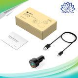 Qualcommの速い充電器3.0ケーブルを持つデュアルポートの小型USB車の充電器のためのAukey