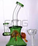 Conduite d'eau en verre de vente chaude de tube de pétrole de TAPE de recycleurs droits d'équipement, pipe de fumage en verre de becher de fabrication