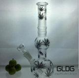 Qualitäts-Borosilicat Pyrex Handblown unbesonnener Illuminati Recycler-rauchendes Wasser-Glasrohr