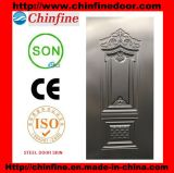 Проштемпелеванная кожа двери холоднокатаной стали, стальная панель двери (CF-SDS01)