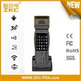 Pantalla táctil de 3.5 pulgadas PDA Handheld con el explorador del código de barras de la impresora NFC del boleto de estacionamiento