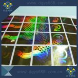 Étiquette de laser d'effet d'arc-en-ciel
