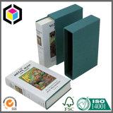 Cadre de papier de cadeau de livre de cas de glissade de papier cartonné de couleur verte