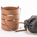 handbag Trendy 중국 형식 물통 부대 Crossbody 가죽 가방 숙녀 부대
