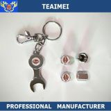 Logo personnalisé Chrome Metal Car Tire Valve Caps With Wrench