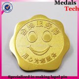 Spécial Custom Gold Sandblast Smile Sun Face Shape Lapel Pins