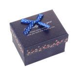 Paquete de regalo de colores personalizados de verificación, caja de embalaje con cinta de impresión