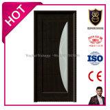 Quarto interno MDF laminado de PVC Porta de vidro