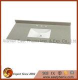 Surface solide de la vanité de pierre de quartz blanc poli Haut de page