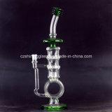 Nouveau style incroyable de fumer en verre de tuyau d'eau avec 2 peigne de miel et la roue PERC