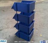 De plastic Bak van de Opslag, de Bak van de Opslag van Stukken