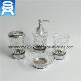 Luxuxbadezimmer-Befestigungsteil-Seifen-Teller mit Glas