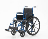 Manuel en acier, rabattable, fauteuil roulant (YJ-031)