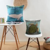 Kundenspezifische Rabatt-Baumwollleinenkissen-Deckel für Sofa