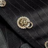 新しい流行のロック・ボタンの袖なしのベストの人の縞のベスト(Y-754)