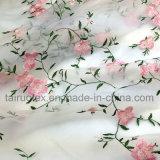 Bordados de tecido Chiffon de seda de polietileno para senhora tecido de vestuário