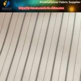 Schwarzes/weißes Klage-Futter, Polyester-Garn-gefärbtes Streifen-Gewebe für Futter (S79.88)