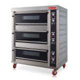 3 dek 6 Oven van het Gas van de Machine van het Brood van het Baksel van de Bakkerij van Dienbladen de Commerciële