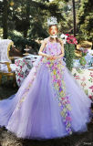 3D Flowers Quinceanera Vestidos Puffy Tulle Off Shoulder Bridal Wedding Ball Gown Sp2017