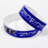Wristband da identificação de Tyvek da impressão do logotipo para o acesso do evento