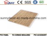 건축재료 목제 디자인 경량 PVC 벽 천장판 Cielo Raso De PVC