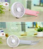 De navulbare Draagbare Mini Elektrische Ventilator van de Hand voor Huis en Reis met het LEIDENE Lichte en Mobiele Laden van de Telefoon Functie