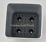 光沢があるずんぐりしたプラスチック植木鉢(KD3841K-KD3845K)