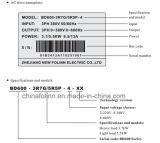 Lecteur VFD/VSD à C.A. de série de l'inverseur Bd600 de fréquence à C.A. de qualité