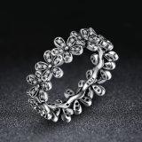 Juwelen van de Ringen van de Vinger van bloemen de Witgoud Geplateerde voor Vrouwen met Ring