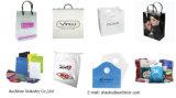 Gestempelschnittener Beutel-Änderung- am Objektprogrammgriff-Beutel-gestempelschnittener Beutel-Butike-Beutel-Polygriff-Beutel-Einkaufstasche-Kleid-Beutel-Träger-Beutel-Plastiktasche-verpackenpolybeutel