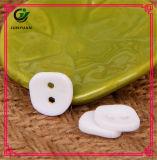 Botão de resina de cor dupla Botão quadrado de pérola