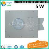5W LED del sensor de movimiento de ahorro de energía solar al aire libre luz del jardín