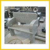 Banc de jardin en pierre de granit G603 Light Grey