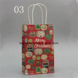 ハンドルが付いているBw213方法クリスマスのペーパーギフト袋