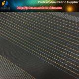 Negro / blanco hilo de poliéster teñido de tela tejida tela de la ropa (s1.64)