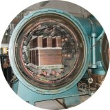 Cambiador de calor cubierto con bronce de la placa 304/316L para el calentador de agua