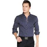 100%年の綿の形式的で完全な袖のハイエンド人のワイシャツ