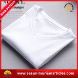 La coutume de la publicité de coton blanc T Shirt pour hommes