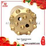 Botão de roscas cónicas/Tipo de broca de carboneto de tungsténio e brocas cônico do material