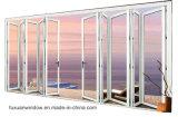 prezzo di vetro esterno del portello di piegatura della fisarmonica di alluminio di spessore di 1.2mm