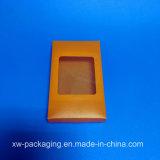 Caixa plástica alaranjada personalizada para o empacotamento da bolha do presente